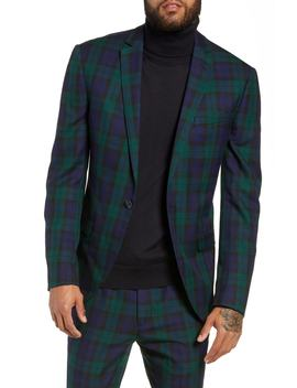 Plaid Slim Fit Suit Jacket by Topman