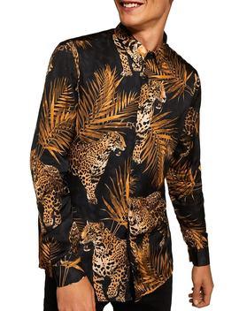 Premium Leopard Print Sport Shirt by Topman