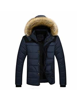 Clearance! Mens Winter Outwear,Fashion Faux Fur Hoodie Coat Plus Size Thick Jacket by Leewos Mens Coat