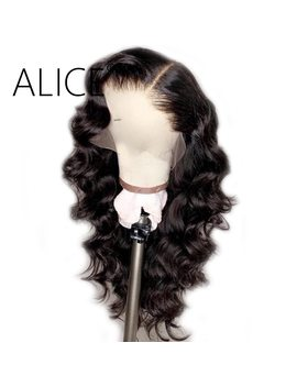 Alice 250 Percents Density Full Lace Human Hair Wigs With Baby Hair Pre Plucked Full Lace Wigs For Women Remy Glueless Brazilian Wigs by Alice