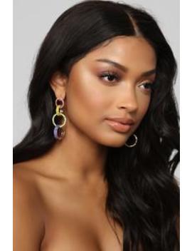 Intertwined Rainbow Earrings   Multi by Fashion Nova