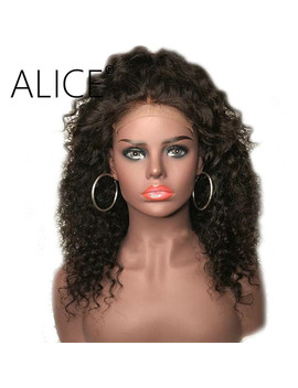 Alice Curly Human Hair Wigs 250% Density Full Lace Human Hair Wigs With Baby Hair Pre Plucked Brazilian Remy Hair Lace Front Wig by Alice