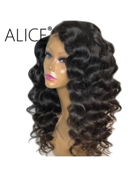 Alice Loose Wave Wig With Baby Hair 250 Density Full Lace Human Hair Wigs For Women Pre Plucked Peruvian Remy Hair Wigs Glueless by Alice