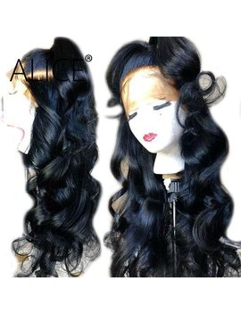 Alice 250 Percents Density Full Lace Human Hair Wigs With Baby Hair Brazilian Remy Pre Plucked Full Lace Wig For Women Bleached Knots by Alice