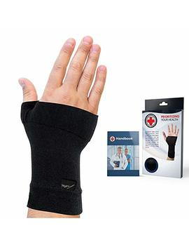 Doctor Developed Copper Infused Wrist Sleeve/Wrist Support/Wrist Brace/Wrist Compression Sleeve [Single] & Doctor Written Handbook— Relief For Wrist Injuries, Joint Disease, Sprains & More (M) by Dr. Arthritis