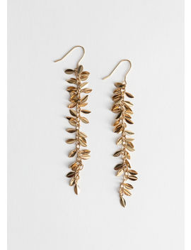 Hanging Olive Branch Earrings by & Other Stories