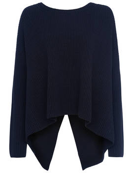 French Connection Twist Back Jumper, Utility Blue by French Connection