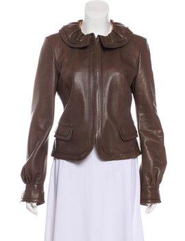 Zip Up Leather Jacket by Fendi