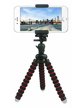 Comdy Rrx 697 Mini Cell Phone Tripod Stand, Flexible Mobile Phone Holder, Octopus Mount For I Phone, Samsung, Camera   Black And Red by Comdy