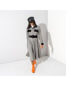 Houndstooth Midi Dress* by Oh Hey Girl