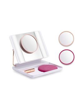 Joi Spotlite Hd Diamond Makeup Mirror In Hot Blush by Just Own It Joi