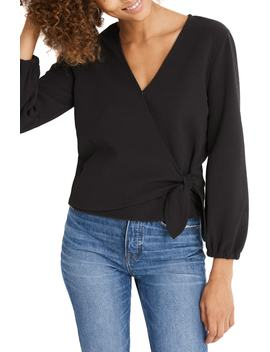 Texture & Thread Crepe Wrap Top by Madewell