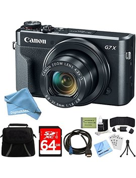 Canon Power Shot G7 X Mark Ii Zoom Digital Camera W/64 Gb Accessory Bundle Includes Camera, Bag, 64 Gb Sdxc Memory Card, Hdmi Cable, Card Wallet + Reader, Digital And More Cleaning Kit (Cyber Monday Deal) by Digitaland More