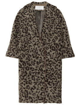 Leopard Print Wool Blend Coat by Thakoon Addition