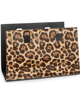 Make It Mine Reversible Solid Leather/Leopard Print Genuine Calf Hair Snap On Accent Flap by Kate Spade New York