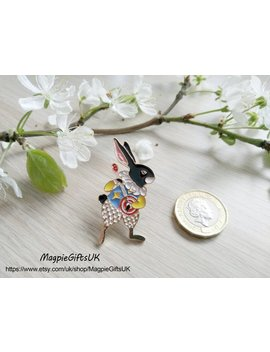 Alice In Wonderland Metal And Enamel Pin,Rabbit Pin,Rabbit Enamel Pin,Bunny Gift,Rabbit Lover,Animal Badge,Bunny Pin,Bunny Badge,Rabbit Gift by Etsy