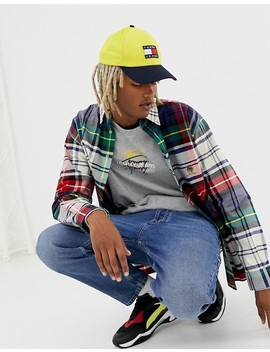 Tommy Jeans 6.0 Limited Capsule Large Check Shirt With Pocket Crest Logo In Multi by Tommy Jeans