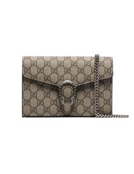 Taupe Dionysus Gg Logo Chain Bag by Gucci