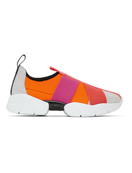 Pink City Up Elastic Sneakers by Emilio Pucci