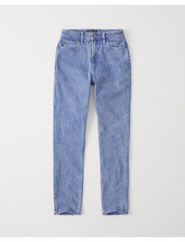 Blue High Rise Slim Jeans by Abercrombie & Fitch