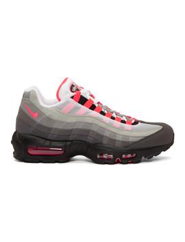 Grey & Pink Air Max 95 Og Sneakers by Nike