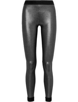 Mahina Kala Metallic Stretch Leggings by No Ka'oi