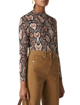 Snake Print Top by Whistles