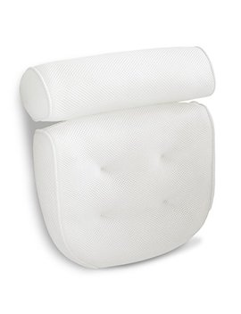 Viventive Luxury Spa Bath Pillow With Head, Neck, Shoulder And Back Support. Non Slip, Extra Thick, Soft And Large 14x13in For The Ultimate Relaxation Experience. Fits Any Tub And Is Anti Bacterial by Viventive
