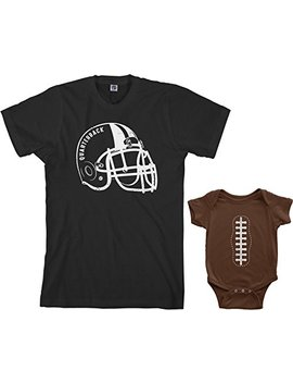 Threadrock Quarterback & Football Infant Bodysuit & Men's T Shirt Matching Set by Threadrock