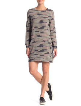 Camo Print Sweatshirt Dress by Como Vintage