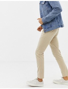 Asos Design Skinny Chinos In Putty With Elastic Waist by Asos Design