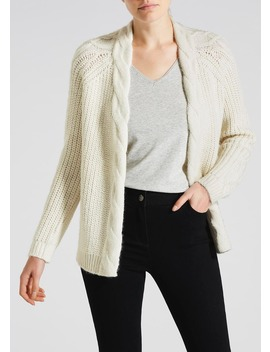 Chunky Cable Knit Cardigan by Matalan