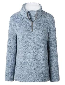 'tabby' Fleece Half Zip Pullover (4 Colors) by Goodnight Macaroon