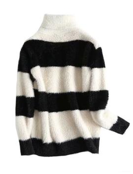 'elouise' Bi Color Stripe Turtleneck Sweater (2 Colors) by Goodnight Macaroon