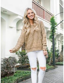 'livvy' Eyelet Knitted Sweater (2 Colors) By Champagne &Amp; Chanel by Goodnight Macaroon