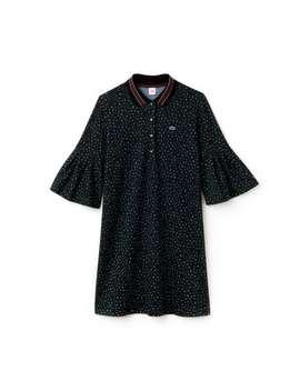 Women's Live Leopard Print Interlock Polo Dress by Lacoste