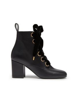 Marylebone Lace Up Bootie by Mulberry