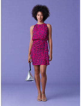 Micah Blouson Dress by Dvf