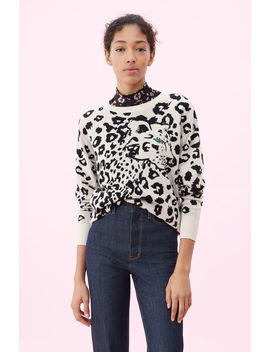 Animal Jacquard Pullover by Rebecca Taylor
