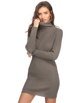 שמלת סוודר דוראנו צווארון גולף by Adika