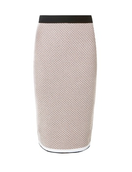 Blush Jacquard Pencil Skirt by Dorothy Perkins