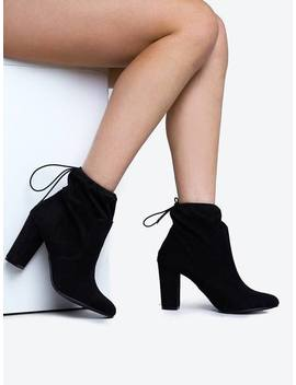 Ankle High Round Toe Booties by Zooshoo