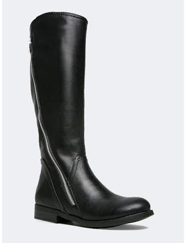 Zipper Knee High Boot by Zooshoo