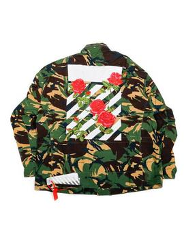 Diagonal Roses M65 Jacket   Camo (Women's) by Off White