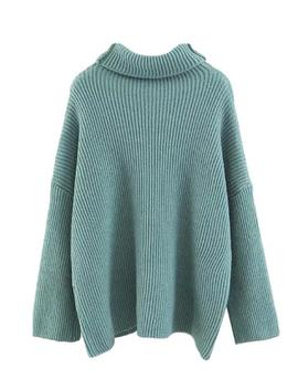 'birdie' Ribbed Knit Roll Neck Oversized Sweater (5 Colors) by Goodnight Macaroon