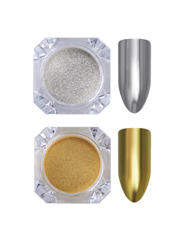 1g/Box Born Pretty Mirror Powder Gold Silver Pigment Nail Glitter Nail Art Chrome Glitter by Born Pretty
