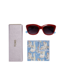 Disney X Toms Snow White Kitty Junior Red Glitter Sunglasses by Toms