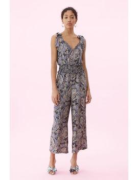 Selene Paisley Silk Jumpsuit by Rebecca Taylor
