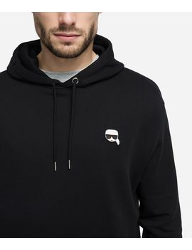 K/Ikonik Patch Hoodie by Karl Legerfeld