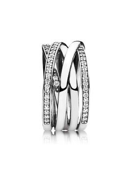 Ασημένιο δακτυλίδι με κυβική ζιρκόνια by Pandora